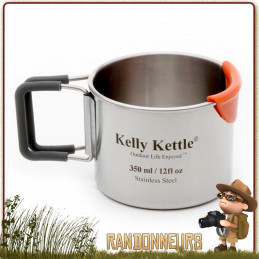 Tasse Acier Inox ultra robuste 35 cl Kelly Kettle bivouac bushcraft france