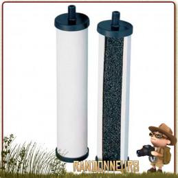 filtre katadyn france, cartouche de rechange céramique charbon actif pour filtre gravidyn katadyn
