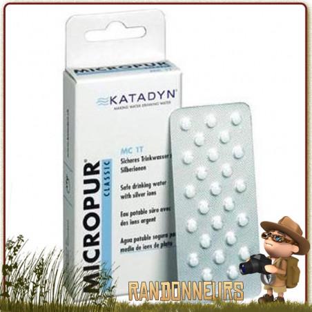 Comprimés MICROPUR Classique MC 1T Katadyn