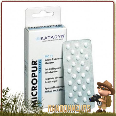 Comprimés MICROPUR Classique MC 50T Katadyn