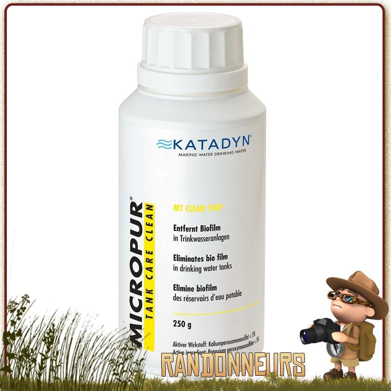 Comprimés MICROPUR TANK CLEAN 250P Katadyn à base d'ions argent pour la conservation de l'eau potable filtrée