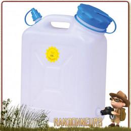 Jerrican alimentaire eau potable Large Ouverture 10L Huenersdorff