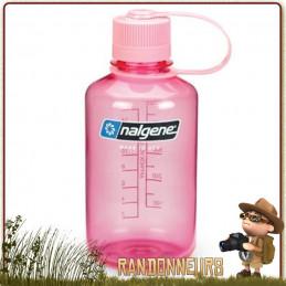 Bouteille Nalgene Petite Ouverture 0.5L ROSE pour fille enfant