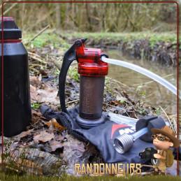 filtre portable MINIWORKS MSR est de loin le filtre pompe le plus vendu dans le monde, idéal pour randonner léger