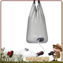 filtre AutoFlow MSR filtration par gravité cartouche de filtration fibres creuses et poche à eau souple de 10 litres