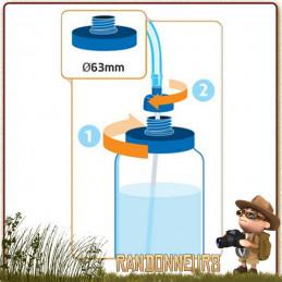 Pipette Tube CONVERTUBE Source pour transformer gourdes et bouteilles en système d'hydratation avec tube et pipette