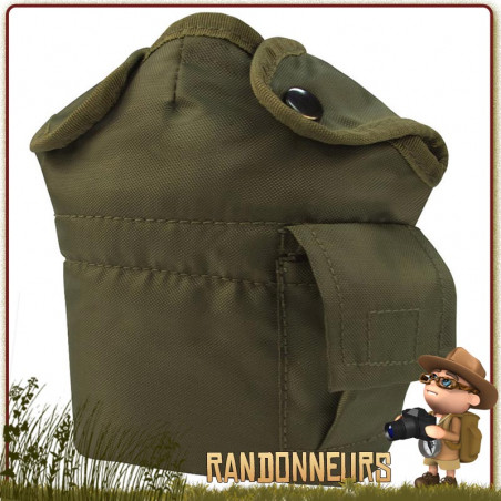 Housse Gourde Militaire type GIs VERT OLIVE Rothco